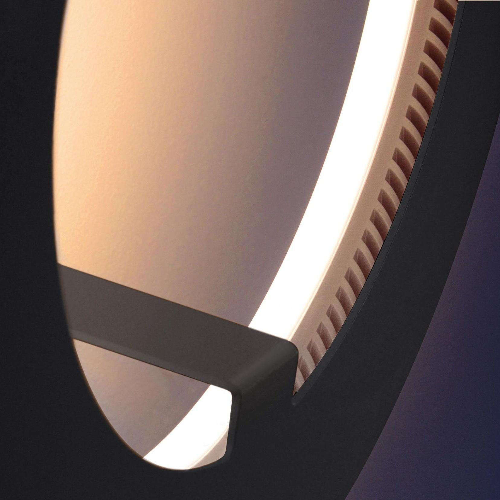 Radius - Absolut Circle LED - Applique murale - noir/dimmable/2300-2500K/Ø 33cm x 13cm