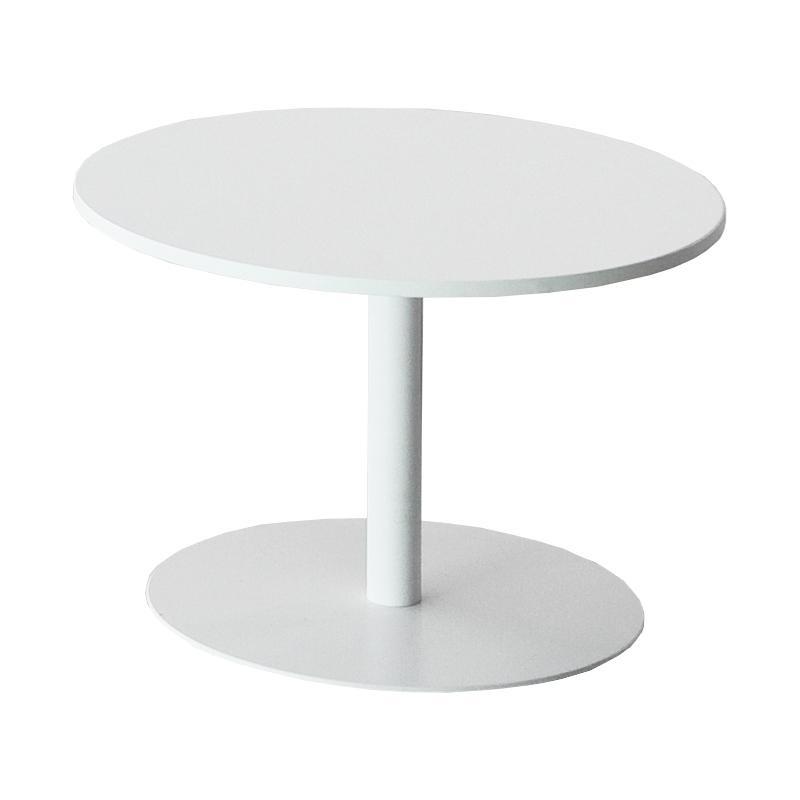 Lapalma - Brio Fix Beistelltisch Gestell weiß H 40cm - weiß/H 40cm / Ø 60cm/Tischplatte HPL | Kinderzimmer > Spielzeuge > Holzspielzeuge | Weiß | Edelstahl| laminat| hpl | Lapalma