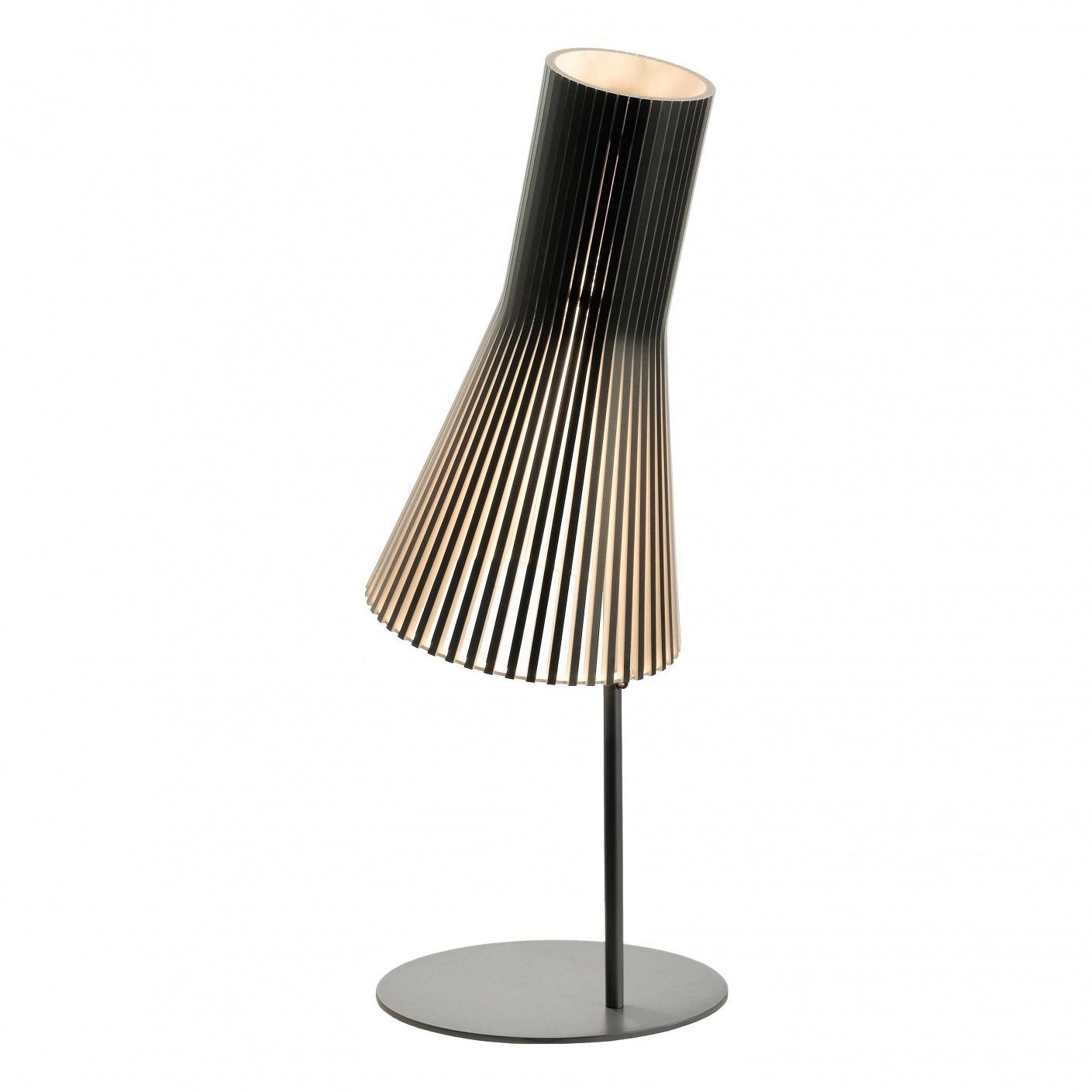 Secto Design - Secto 4220 - Lampe de Table - noir/laminé/incl. ampoule LED 2800K/1055lm/câble noir/support noir