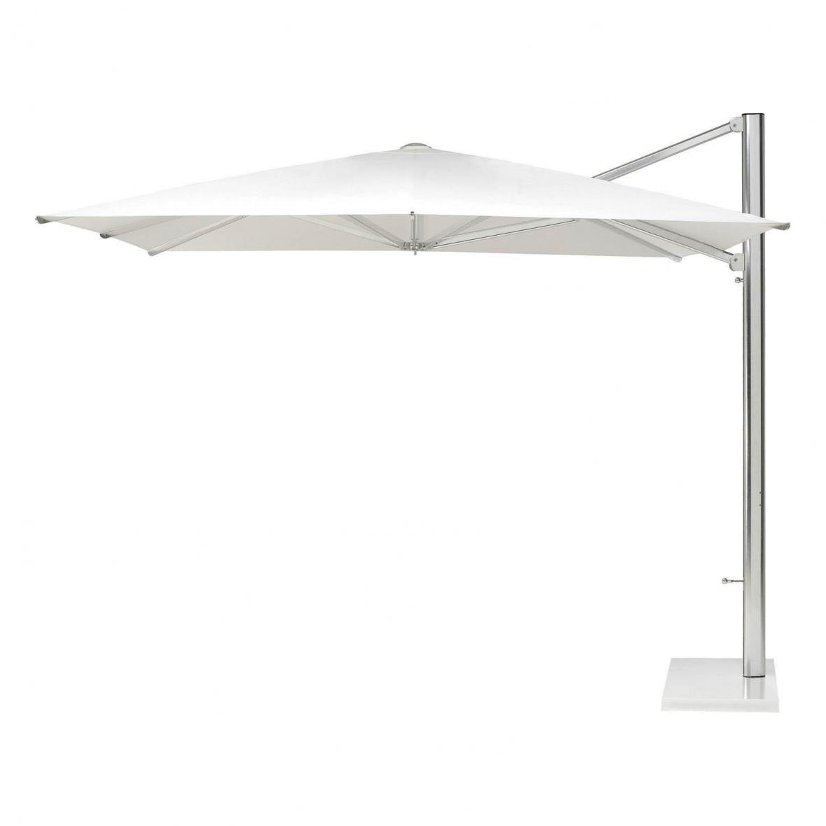emu - Shade Sonnenschirm mit Seitenmast 300x320cm - weiß/aluminium/Stoff Polyester weiß/LxBxH 300x320x272cm/Gestell Aluminium/ohne Schirmständer | Garten > Sonnenschirme und Markisen | emu