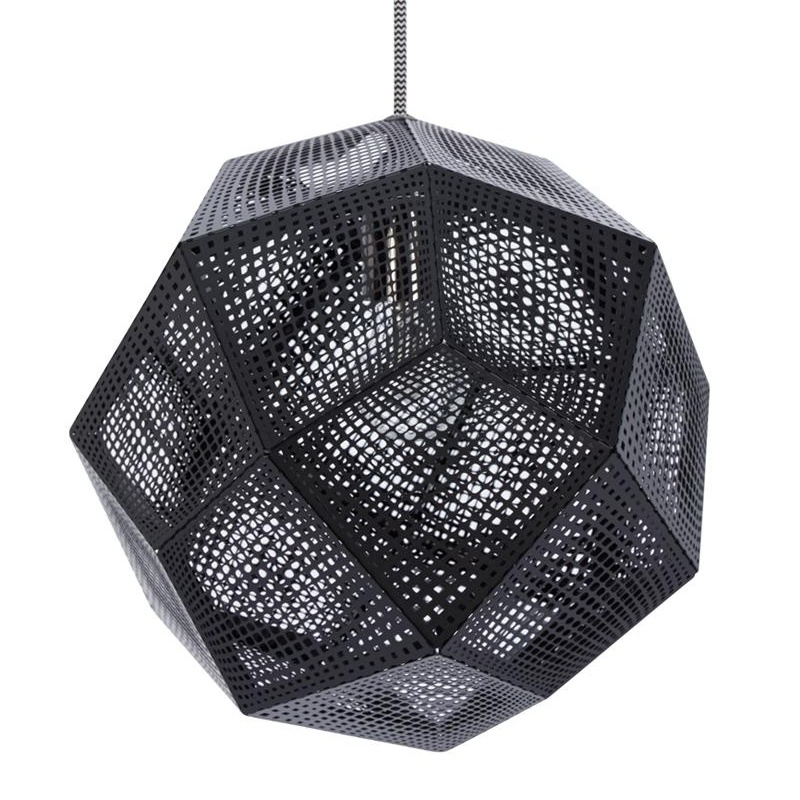 Tom Dixon - Etch Shade Suspension Lamp Ã32cm - black