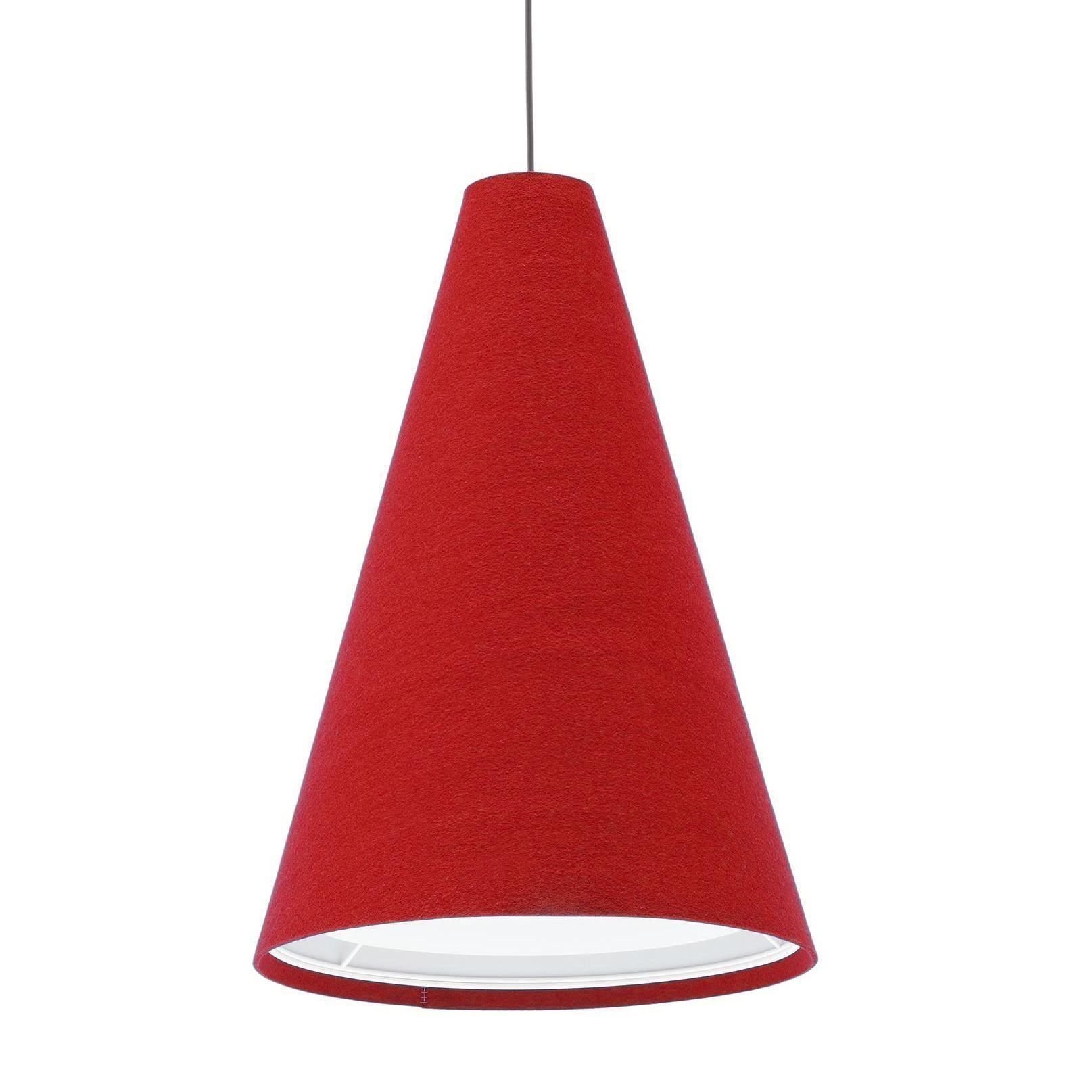 Hey-Sign - Hey-Light L - Suspension - rouge pavot/feutre/3mm/H 115cm / Ø 80cm