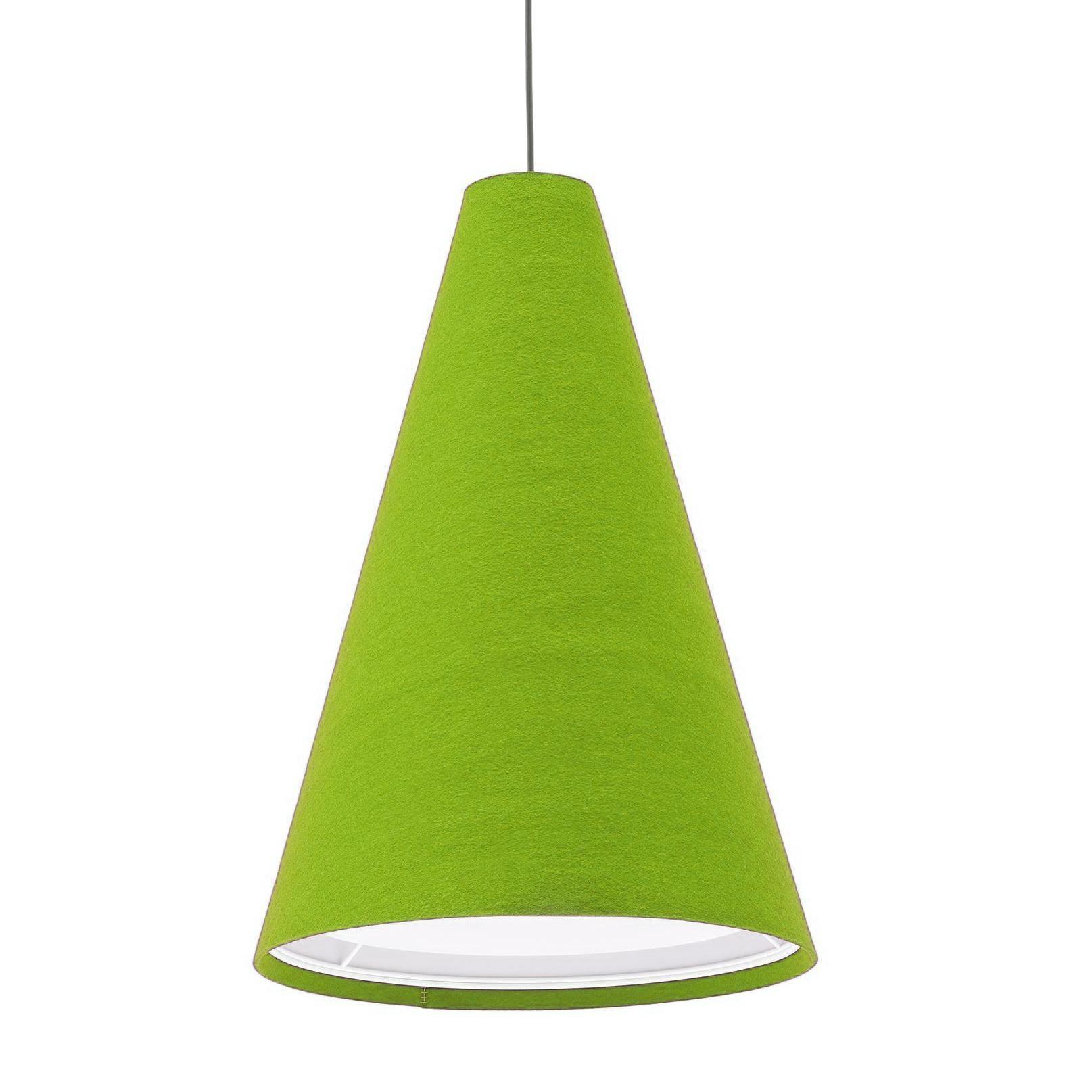 Hey-Sign - Hey-Light L - Suspension - mai vert/feutre/3mm/H 115cm / Ø 80cm