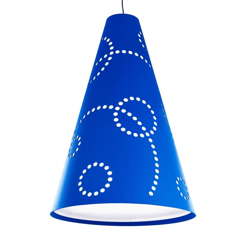 Hey-Sign - Hey-Light Stamp L - Suspension - bleu/feutre/livrée sans source lumineuse/H: 115cm Ø 80cm