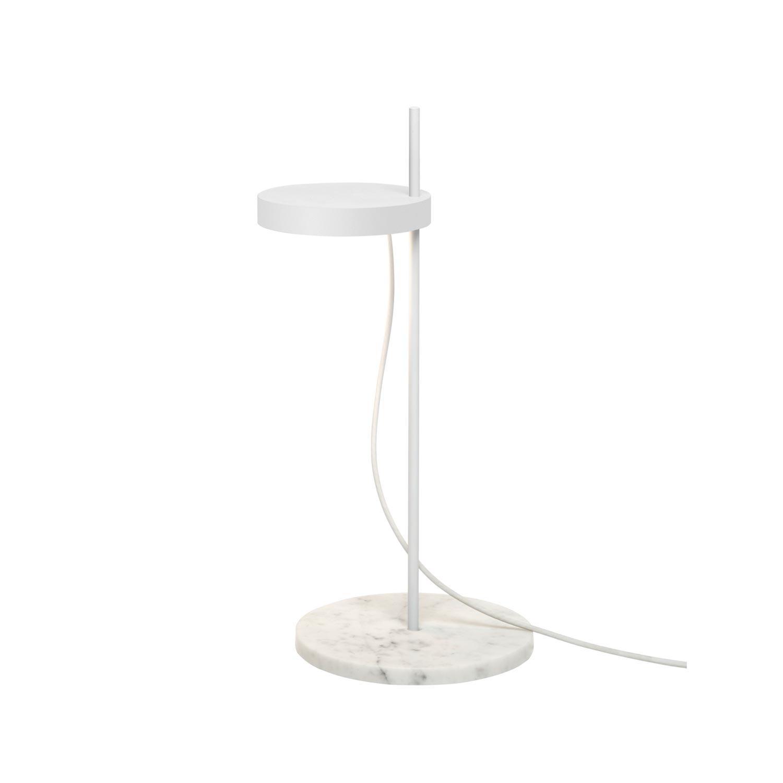 e15 LT06 Palo - Lampe de table LED - blanc/marbre Carrara/a55cm