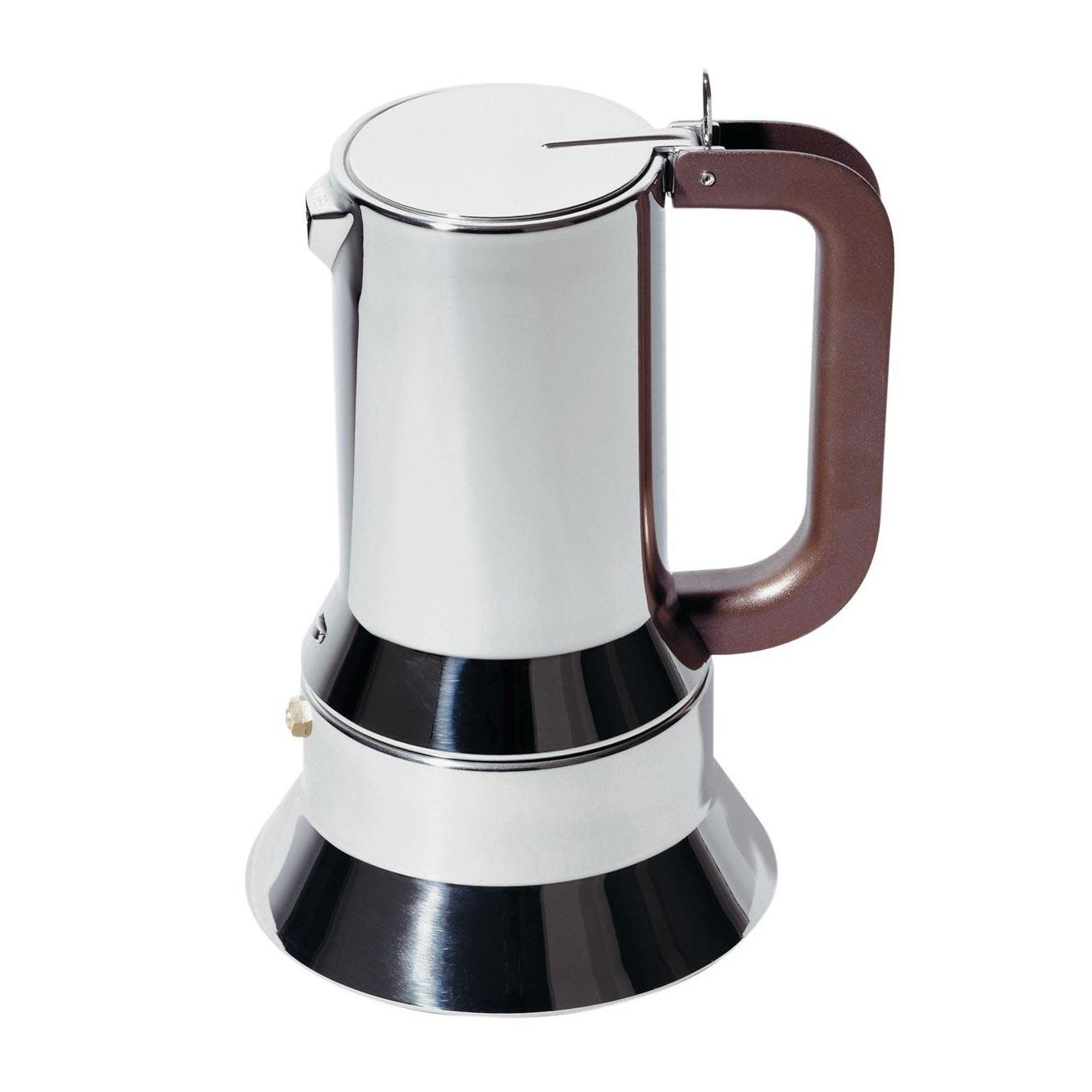 Alessi - 9090/M Espressomaschine - edelstahl 18/10/glänzend poliert/10 Tassen/für Induktionsherde geeignet | Küche und Esszimmer > Kaffee und Tee > Espressomaschinen | Alessi