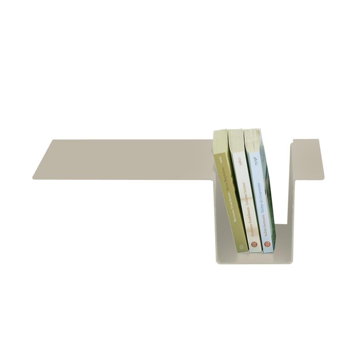 Moormann - Siebenschläfer Seitenablage - steingrau/pulverbeschichtet/zum einhängen | Schlafzimmer > Nachttische | Steingrau | Aluminum | Moormann