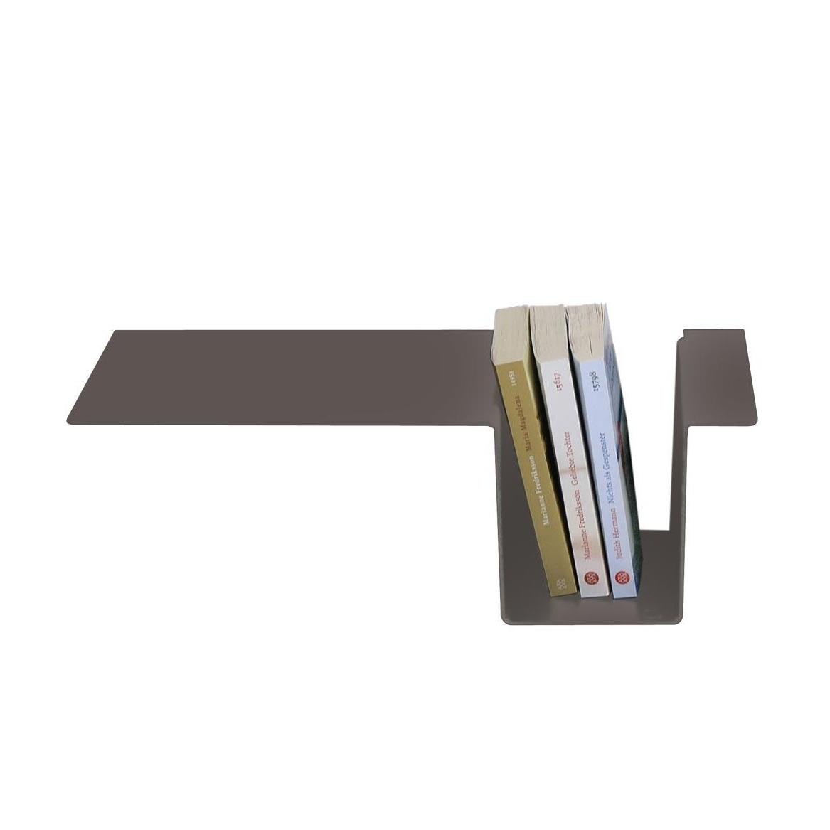 Moormann - Siebenschläfer Seitenablage - umbragrau/pulverbeschichtet/zum einhängen | Schlafzimmer > Nachttische | Umbragrau | Aluminum | Moormann