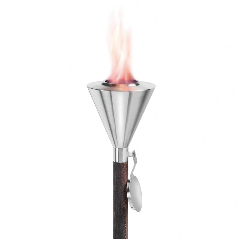 Blomus - Orchos - Torche pour gel combustible - acier inoxydable/H 155cm / Ø 14cm / 500ml / 2,5h
