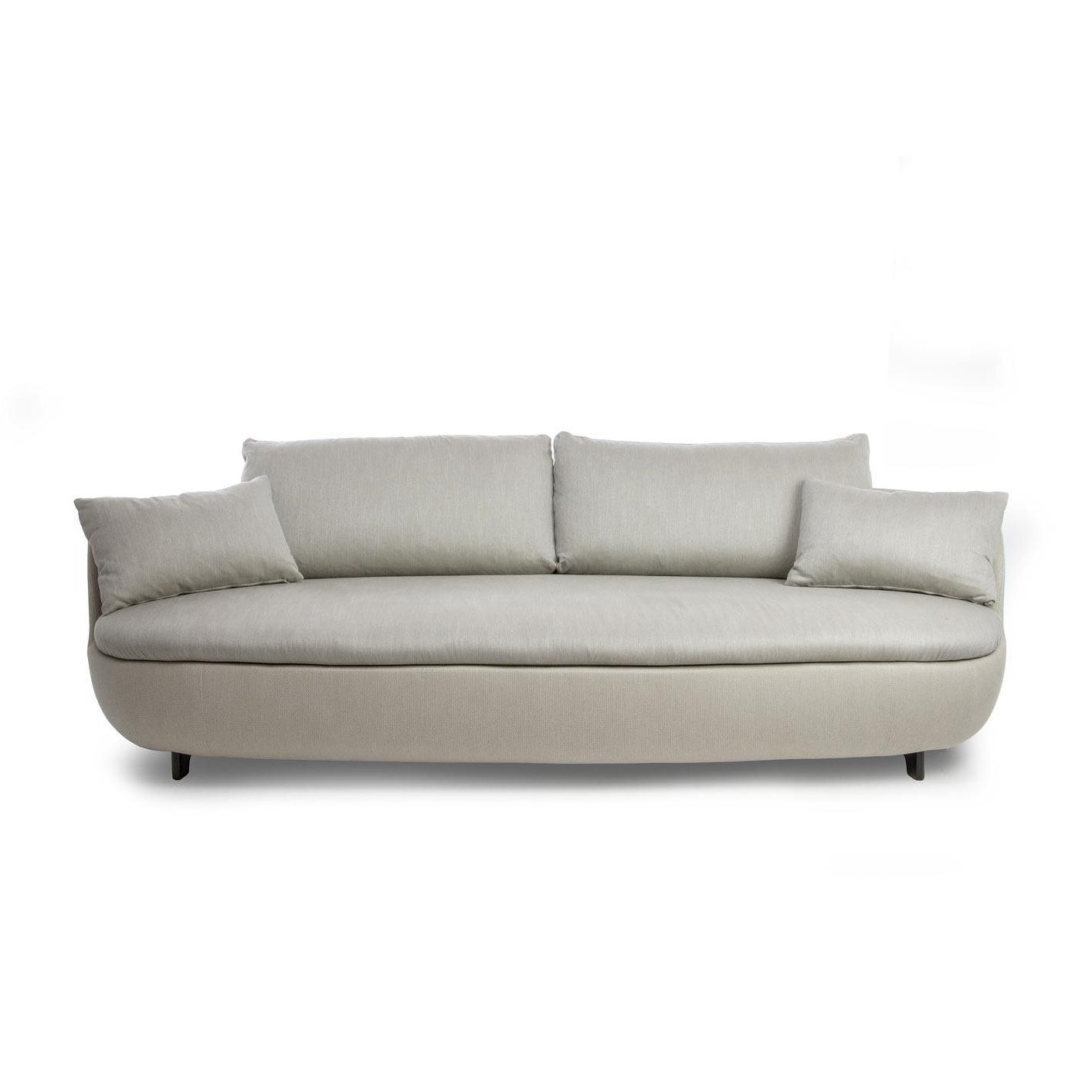 Moooi - Bart - Canapé - clair gris/étoffe Macchedil Sottile/Grezzo/incl. coussins/enveloppe amovible/235x100x65cm