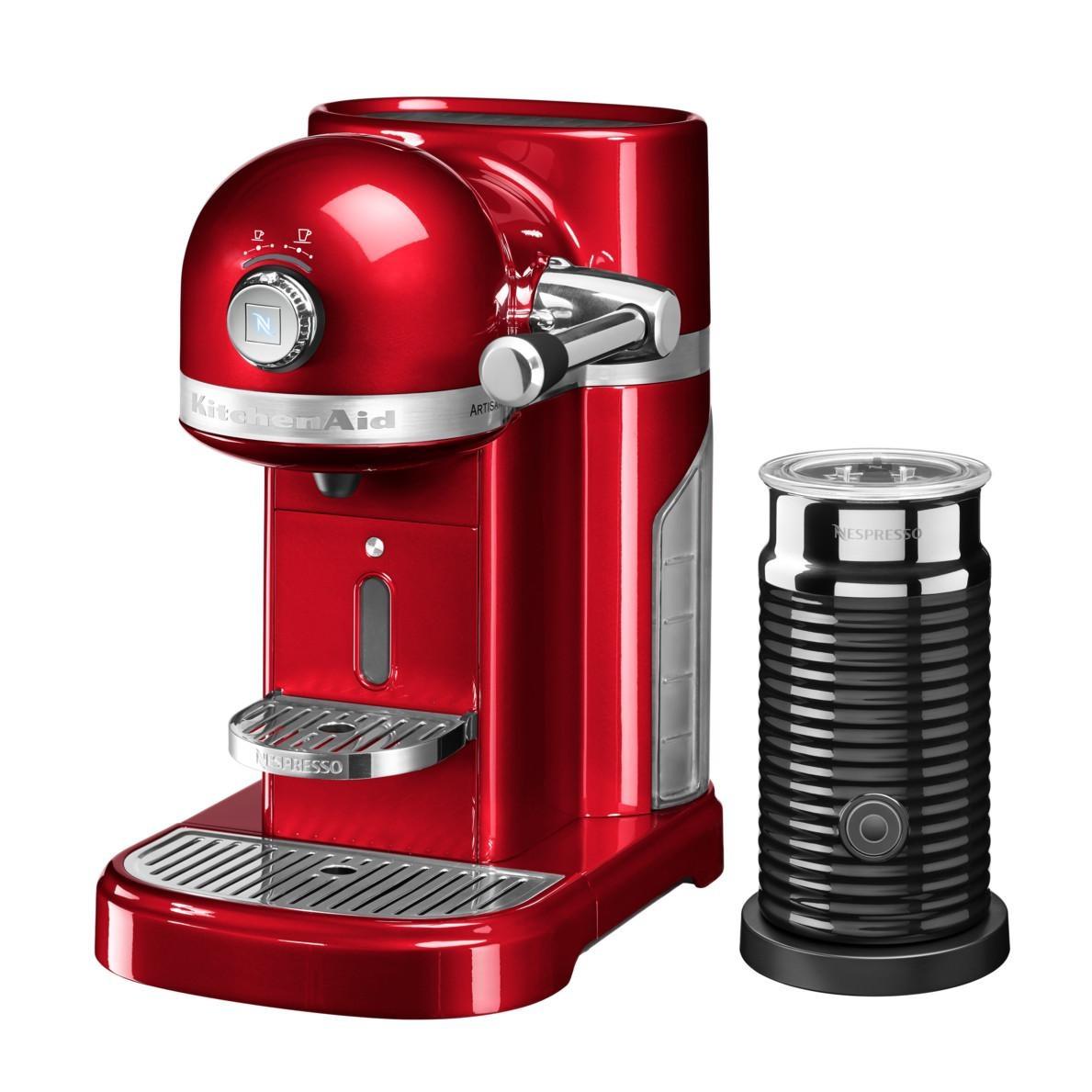 KitchenAid - Artisan 5KES0504 Nespressomaschine + Aeroccino - liebesapfelrot/glänzend/1160W/ 19 bar/mit Aeroccino Milchaufschäumer | Küche und Esszimmer > Kaffee und Tee > Espressomaschinen | KitchenAid