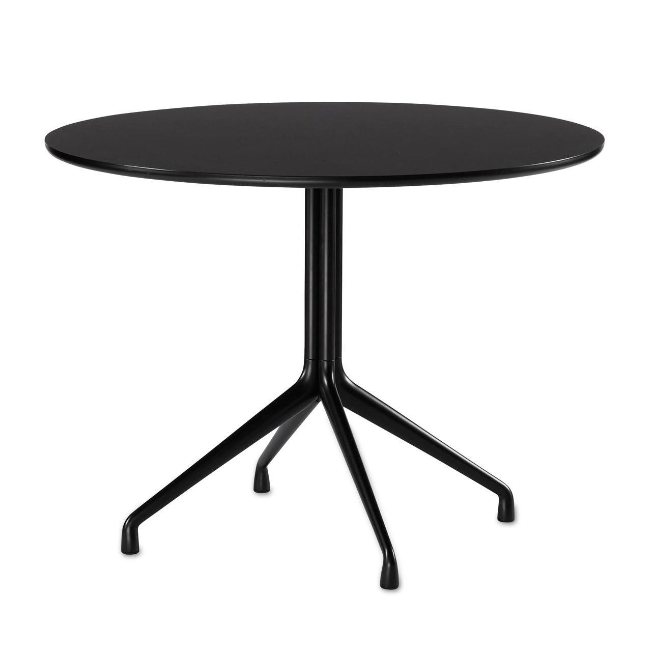 HAY - About a Table AAT20 Esstisch rund Ø100cm - schwarz/Tischplatte Laminat/Kante schwarz/4 Beine | Baumarkt > Bodenbeläge > Laminat | HAY
