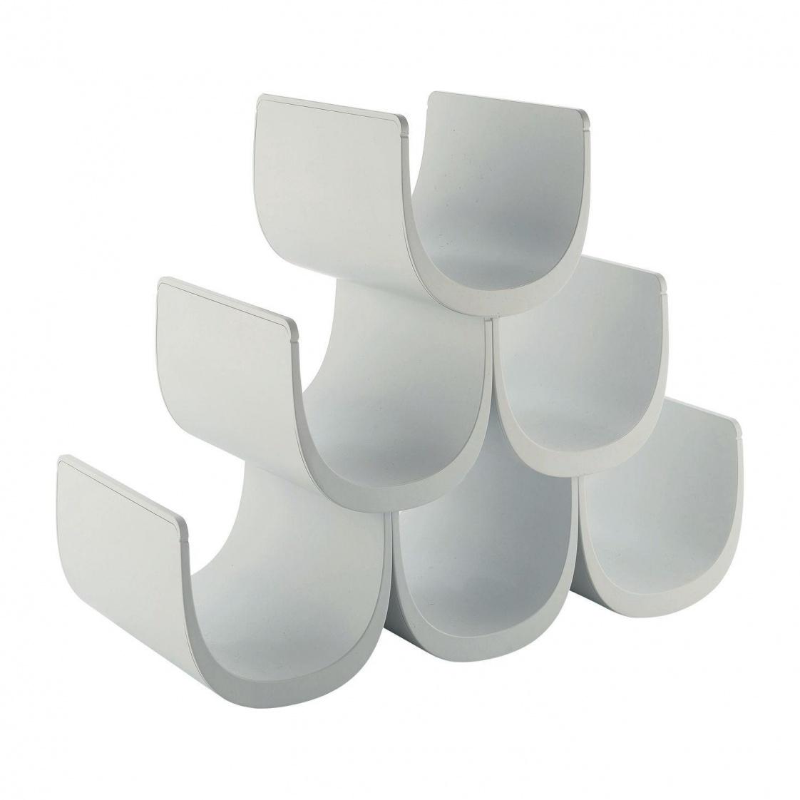 Alessi - Noè Flaschenregal - weiß/mit Baukastensystem   Küche und Esszimmer > Küchenregale > Weinregale   Weiß   Kunstharz   Alessi