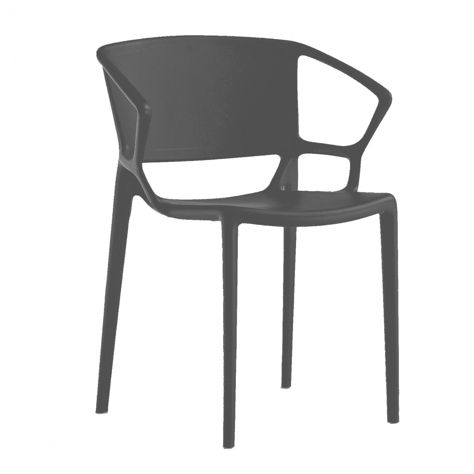 Infiniti - Fiorellina Armlehnstuhl - anthrazit | Küche und Esszimmer > Stühle und Hocker > Armlehnstühle | Anthrazit | Fiberglas gefülltes polypropylen | Infiniti