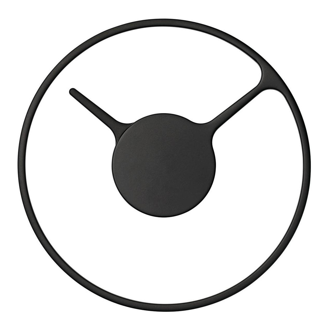 Stelton Time Wanduhr - schwarz/Ø 30cm | Dekoration > Uhren > Wanduhren | Stelton