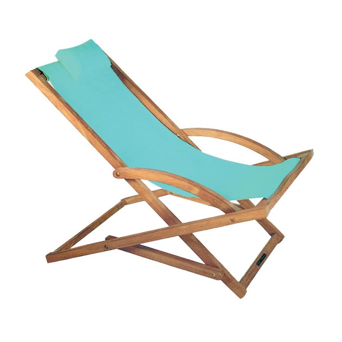 Royal Botania - Beacher Sonnenliege - hellblau/Batyline/Gestell teak/inkl. Nackenkissen | Garten > Gartenmöbel > Gartenliegen | Hellblau | Teak| kunststoff | Royal Botania
