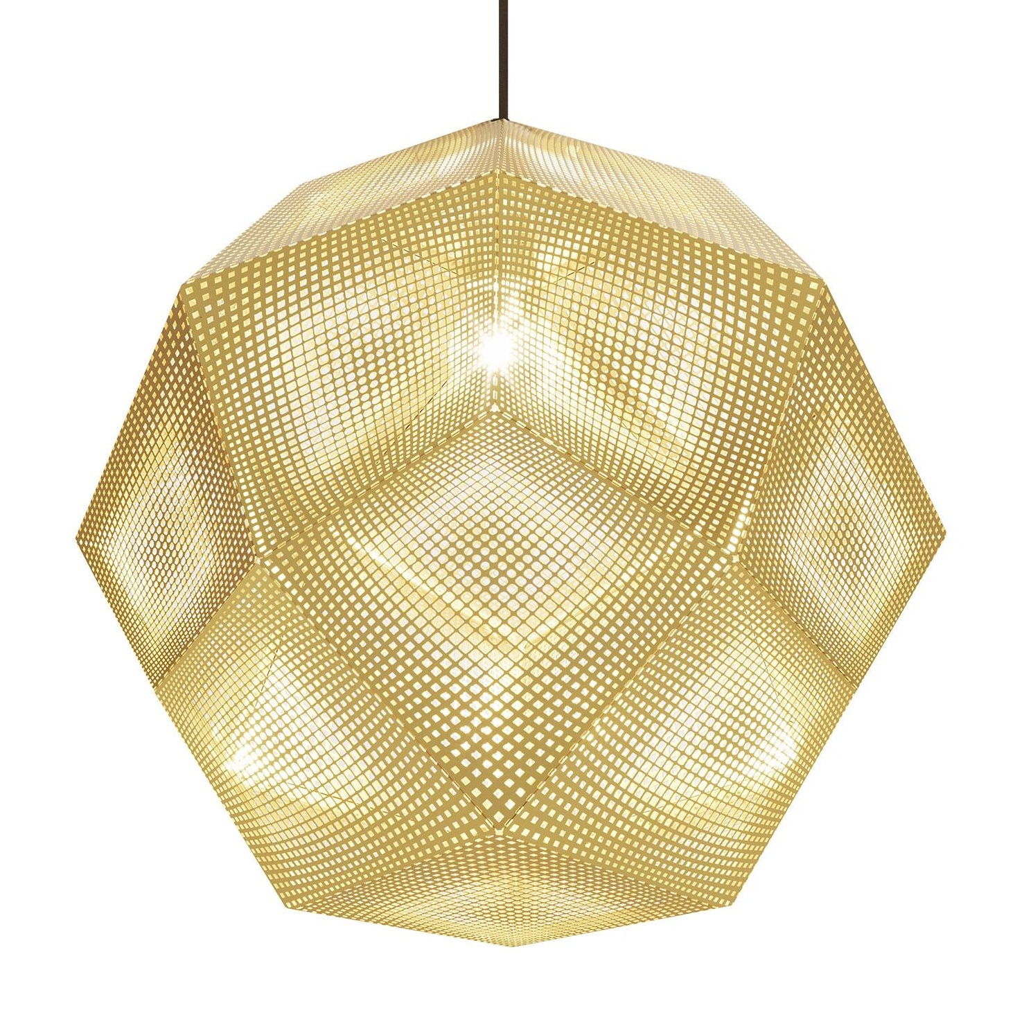 Tom Dixon - Etch Shade Suspension Lamp Ã50cm - brass