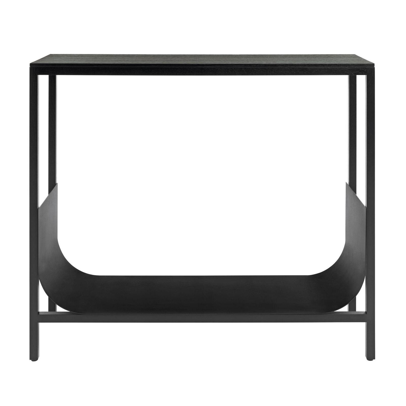 Schönbuch - TUB - Table console - noir/chêne poreux laqué/bassin d'acier revêtement par poudre/LxPxH 90x32x80cm