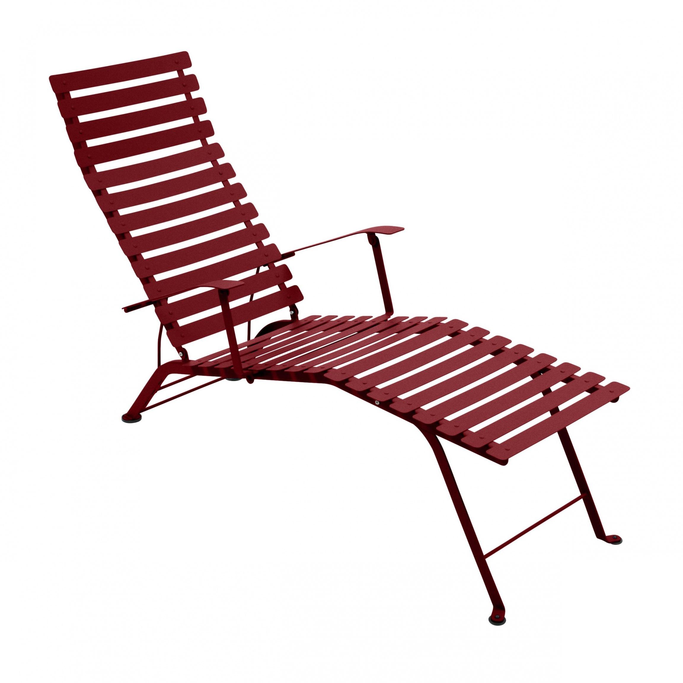 Fermob bistro mtal chaise longue pliante catgorie bain for Chaise longue toile pliante