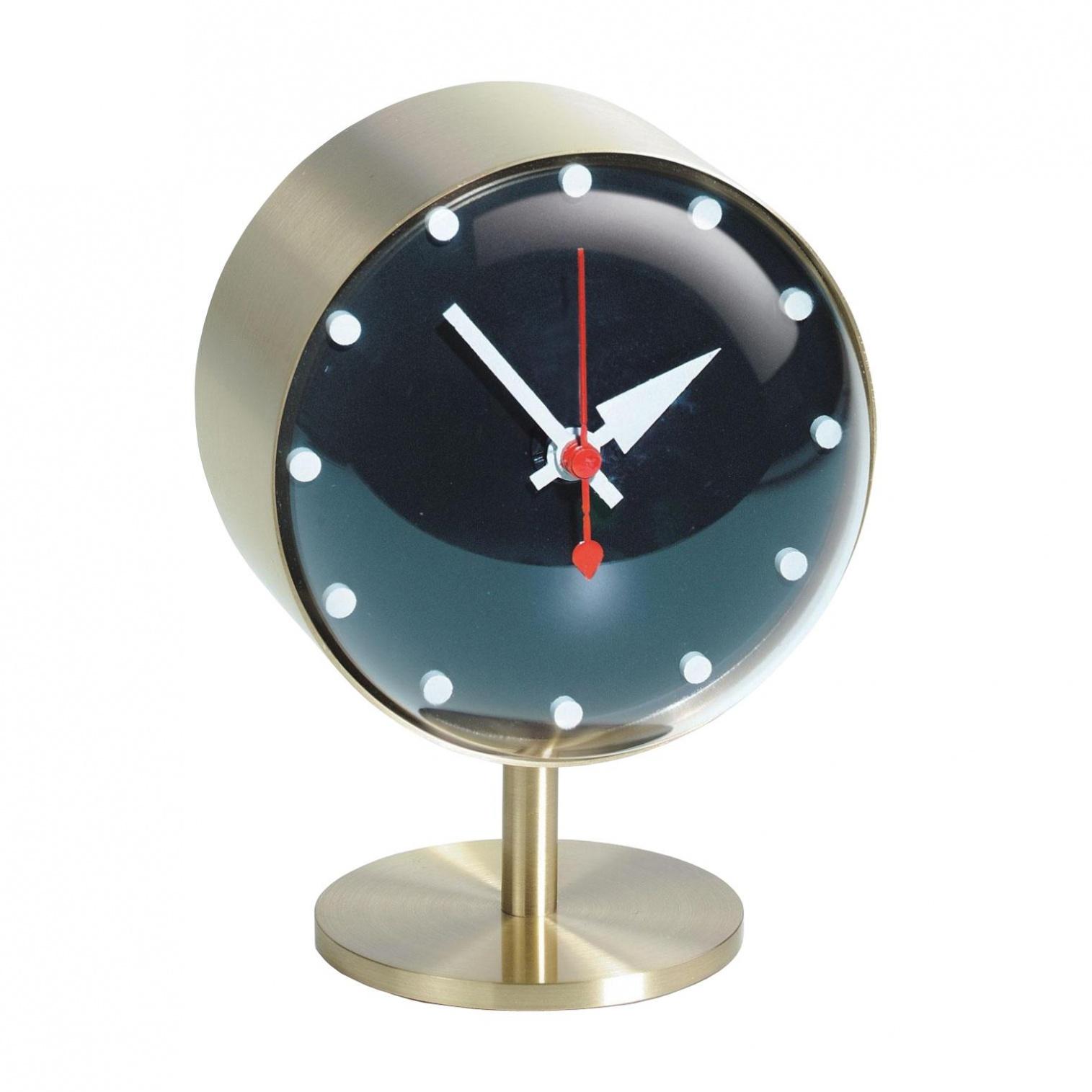 5cm Clock Vitra Nelson Night Messingacrylglasø10 Tischuhr qSzUpMV