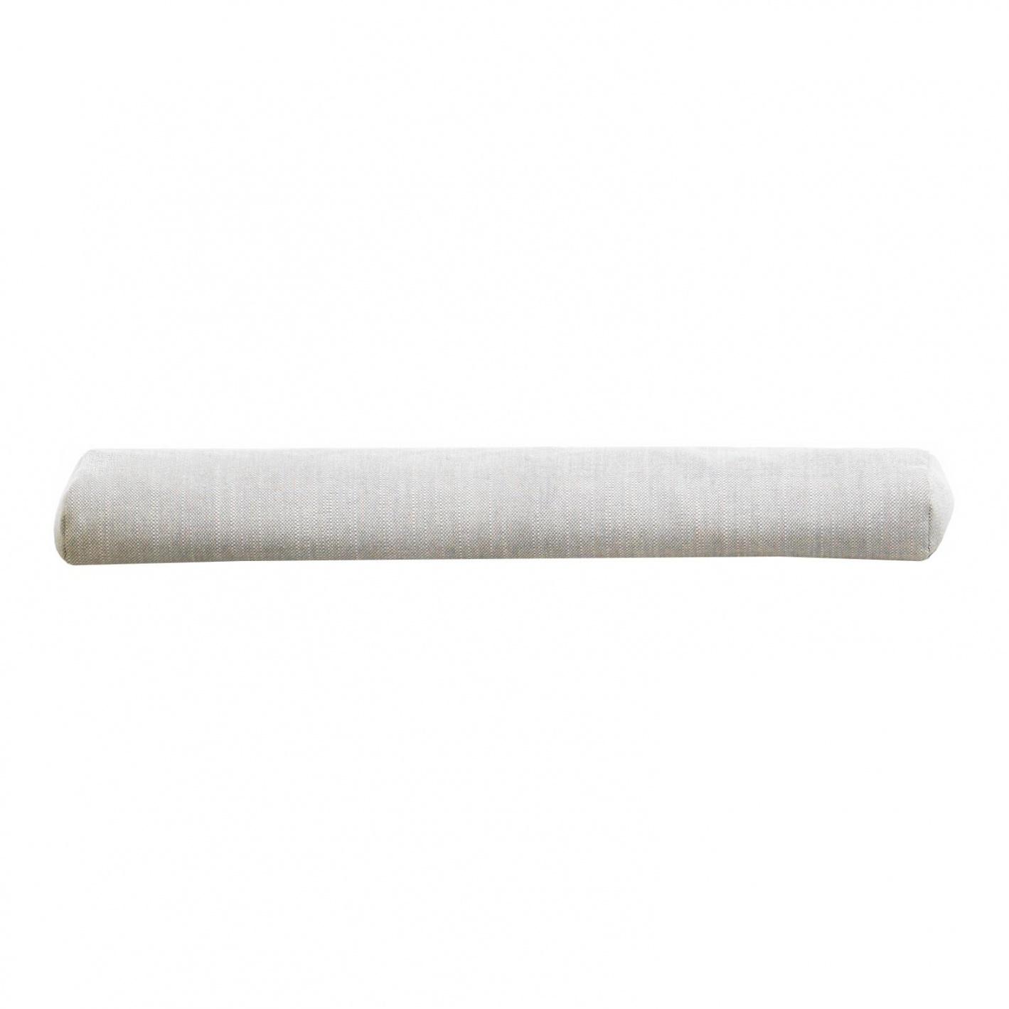 Vitra - Soft Modular Nackenkissen lang - creme/stahlgrau/Stoff Maize 03/90x20cm | Schlafzimmer > Kopfkissen | Creme/stahlgrau | Stoff| kunststoffkugel-füllung | Vitra