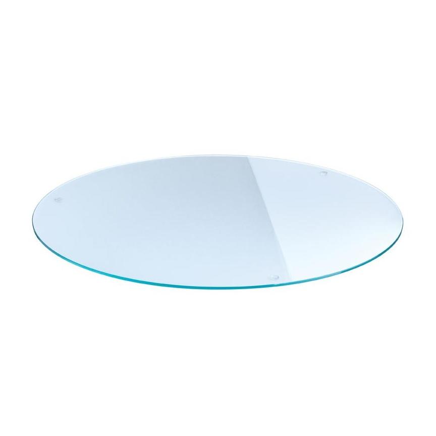 Moree - Lounge Glas-Tischplatte - transparent/Sicherheitsglas/Ø84cm | Wohnzimmer > Tische > Glastische | Transparent | Sicherheitsglas | Moree