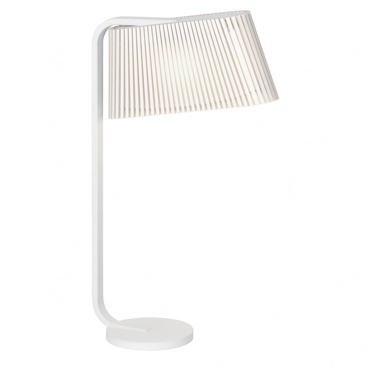 Secto Design - Owalo 7020 - Lampe de table LED - blanc/laminé/structure laque blanc/2800K/600 lm