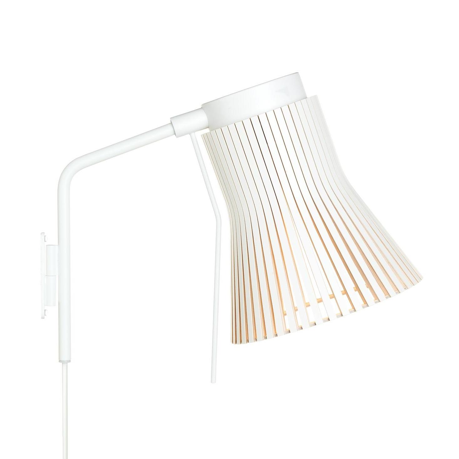 Secto Design - Petite 4630 - Applique murale - blanc/laminé/2800K/480lm/structure laque blanc/câble blanc