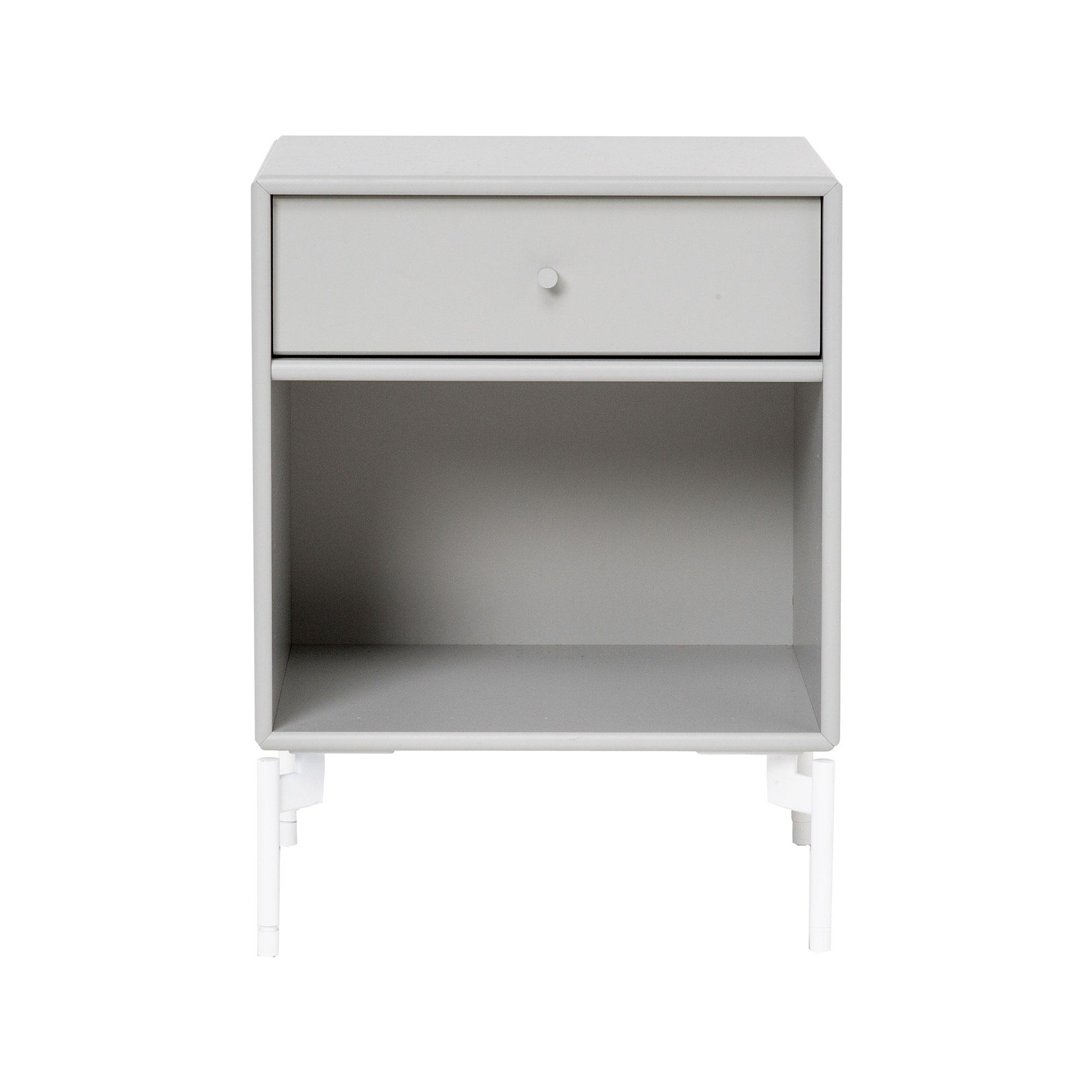 Montana - Dream Nachttisch mit Schublade H: 48cm - nordic 09/lackiert/BxHxT 35|4x48x30cm | Schlafzimmer > Nachttische | Nordic 09 | Mdf lackiert| zink | Montana