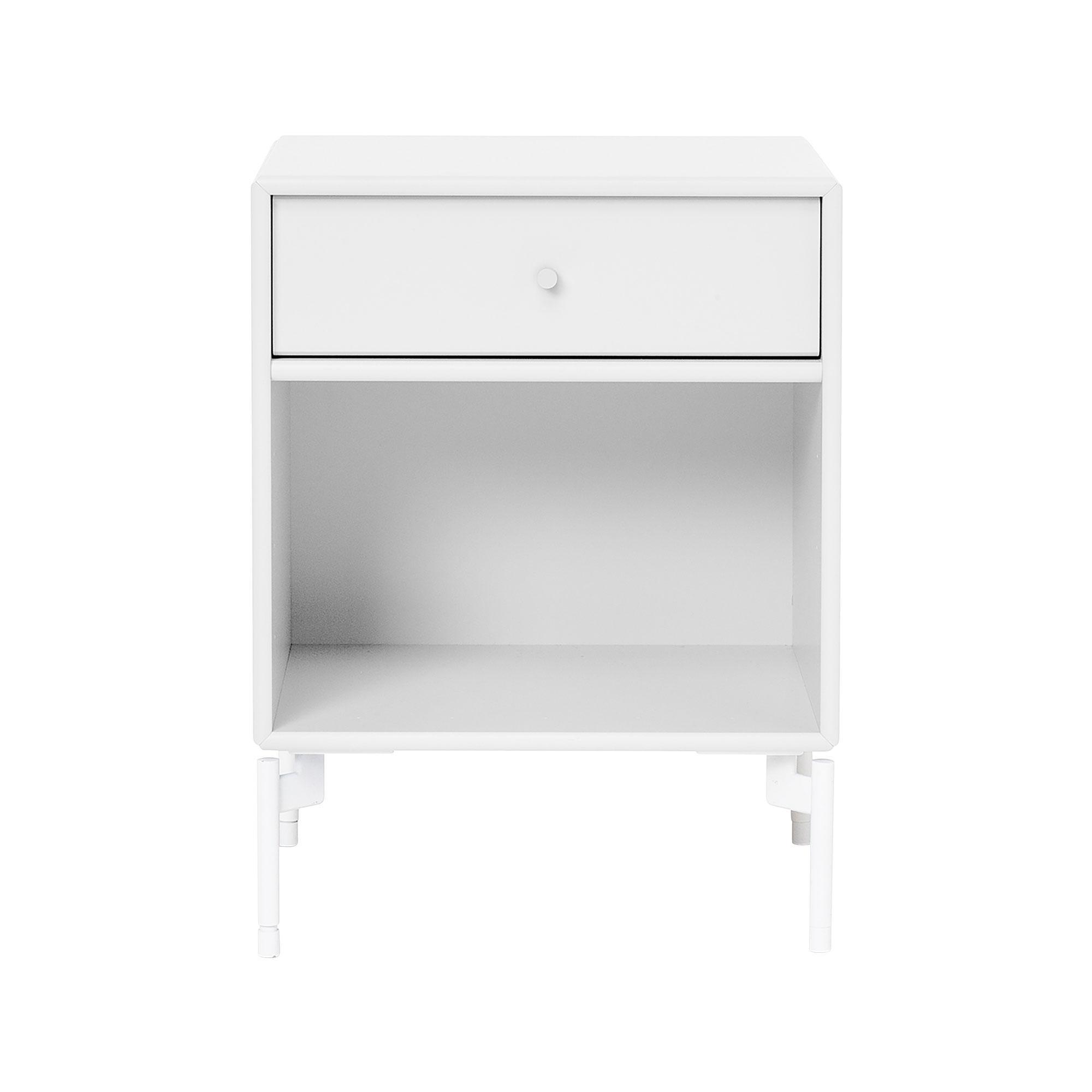 Montana - Dream Nachttisch mit Schublade H: 48cm - new white 101/lackiert/BxHxT 35|4x48x30cm | Schlafzimmer > Nachttische | New white 101 | Mdf lackiert| zink | Montana