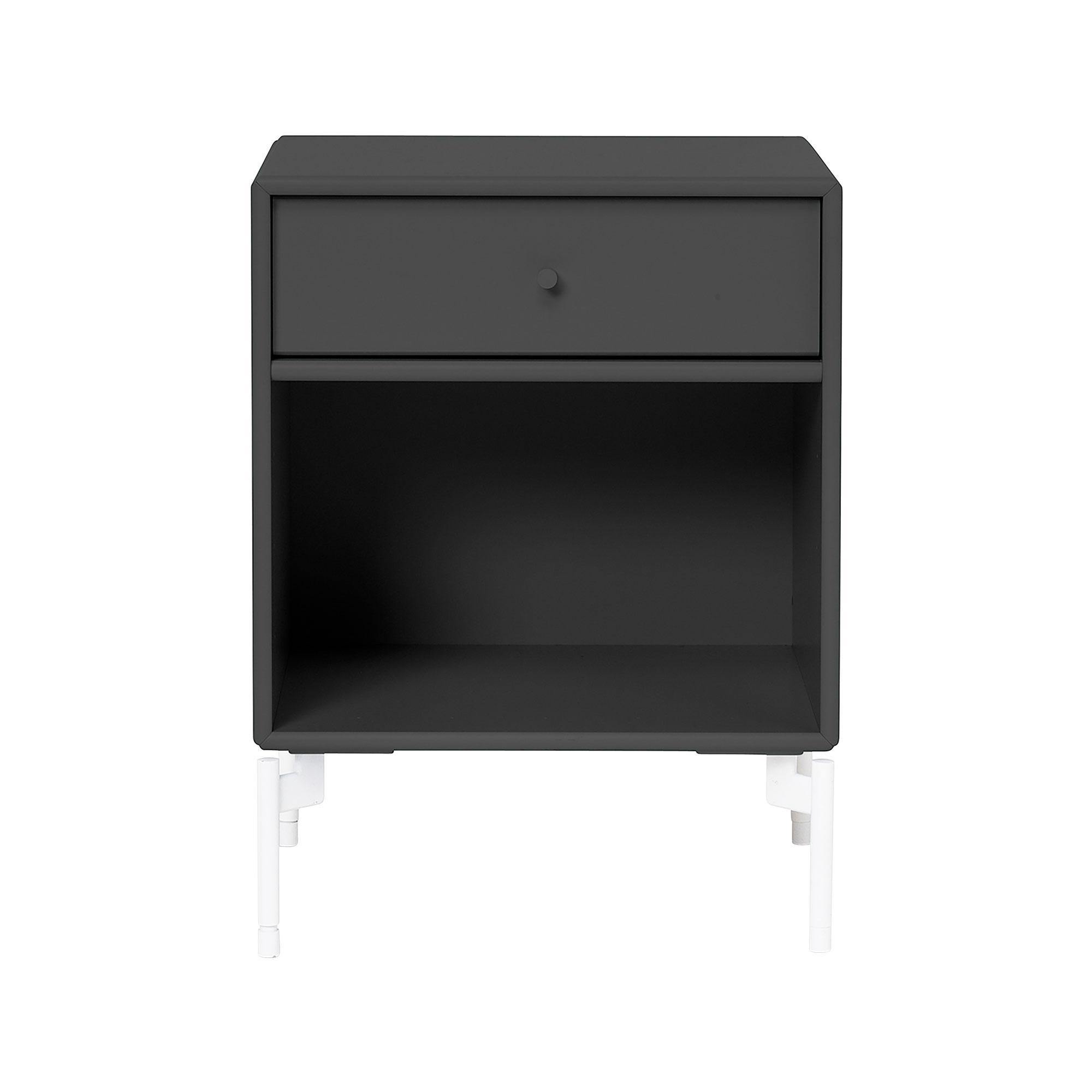 Montana - Dream Nachttisch mit Schublade H: 48cm - anthrazit 04/lackiert/BxHxT 35|4x48x30cm | Schlafzimmer > Nachttische | Anthrazit 04 | Mdf lackiert| zink | Montana