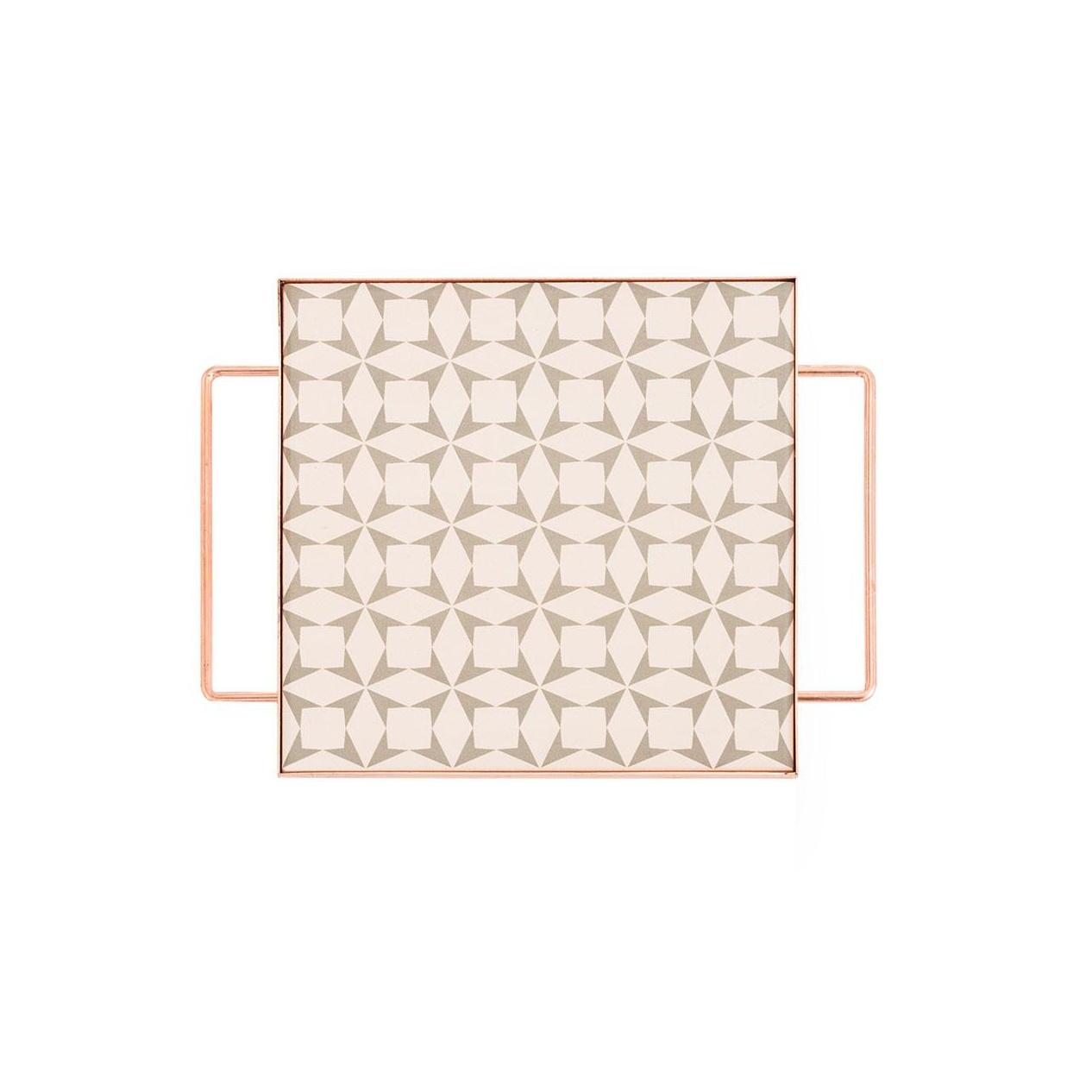 GAN - Mix&Match Tablett quadratisch 20x20cm - grau/26x20x6,5H cm/mit Füßen günstig online kaufen