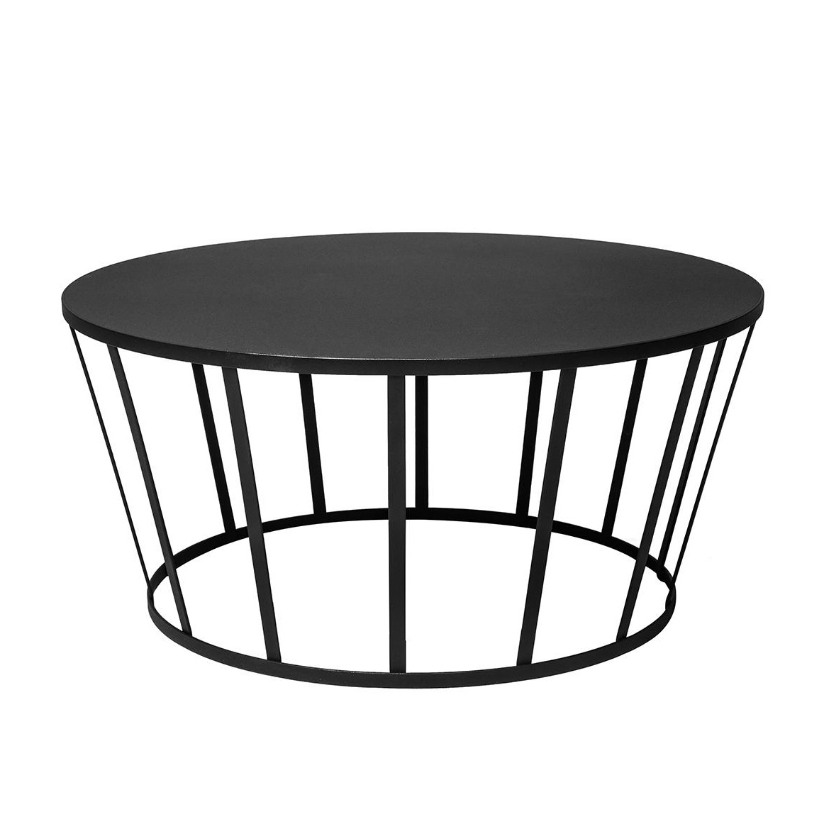 Petite Friture - Hollo Couchtisch Ø70cm - schwarz/H 33cm | Wohnzimmer > Tische > Couchtische | Schwarz | Stahl | Petite Friture