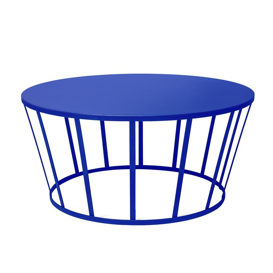Petite Friture - Hollo Couchtisch Ø70cm - blau/H 33cm | Wohnzimmer > Tische > Couchtische | Blau | Stahl | Petite Friture