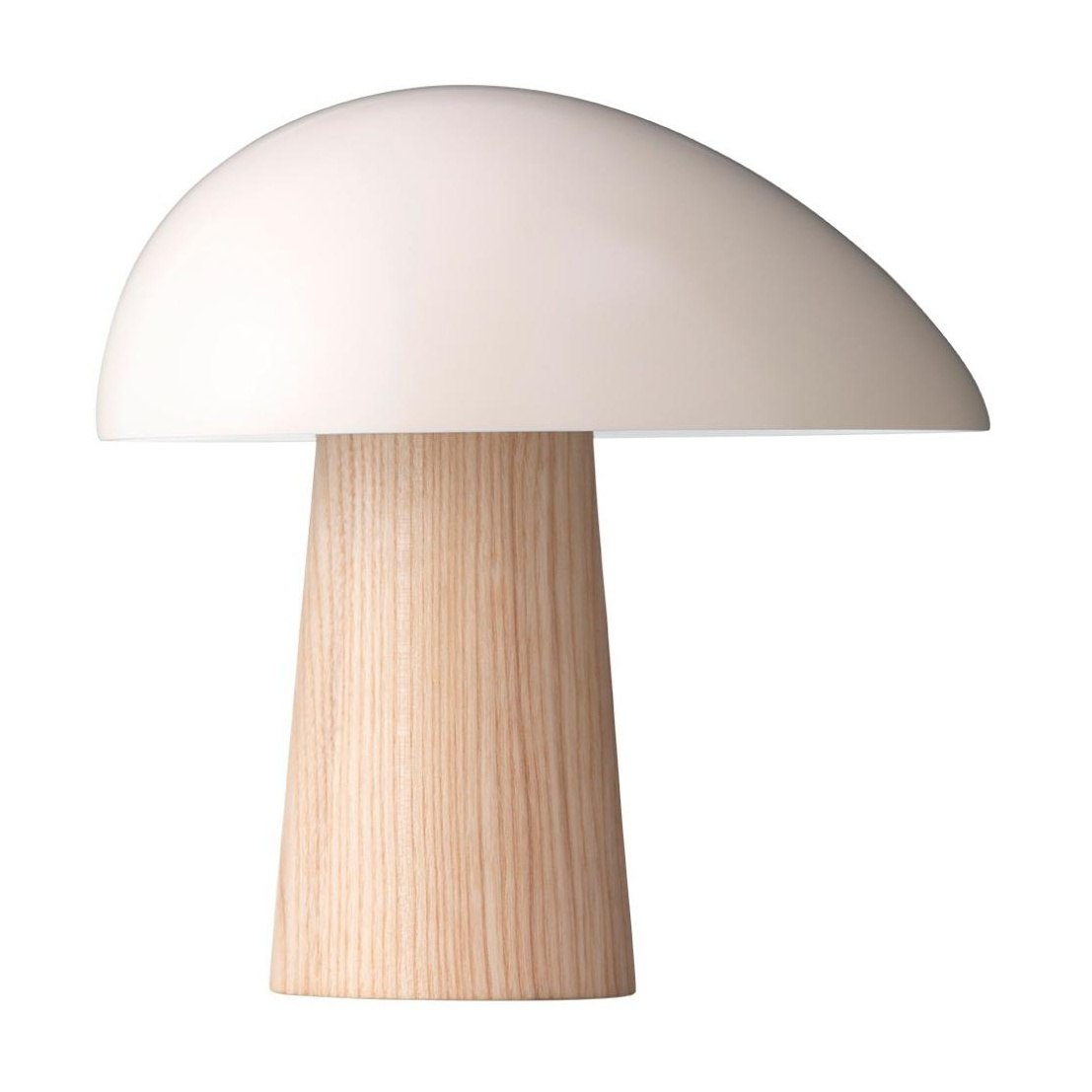 Fritz Hansen - Lampe de table Night Owl™ - blanc fumée/frêne/laqué/H 23,9cm / Ø 23,5cm/câble noir
