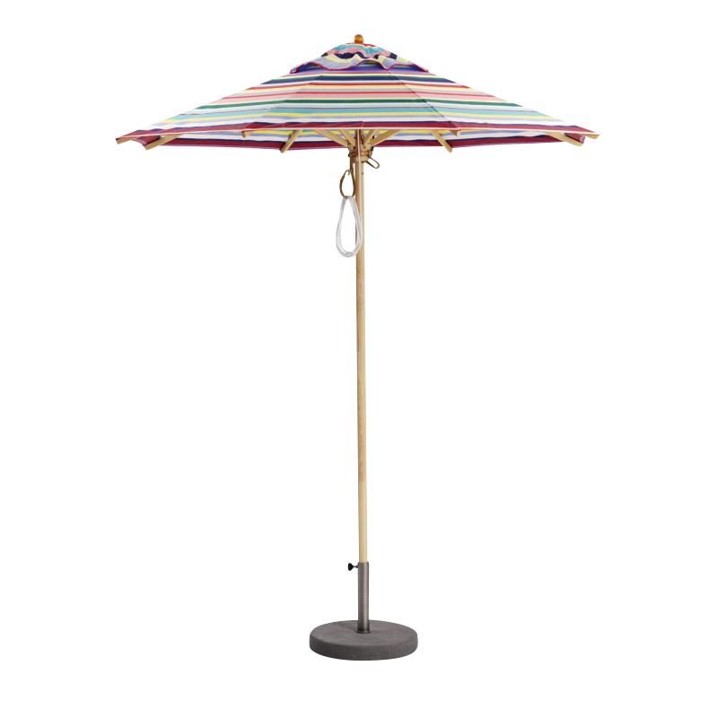 Weishäupl - Klassiker Sonnenschirm rund Ø 210 cm - multicolour/Gestell Holz/Dolan/Ø 210 cm | Garten > Sonnenschirme und Markisen | Weishäupl
