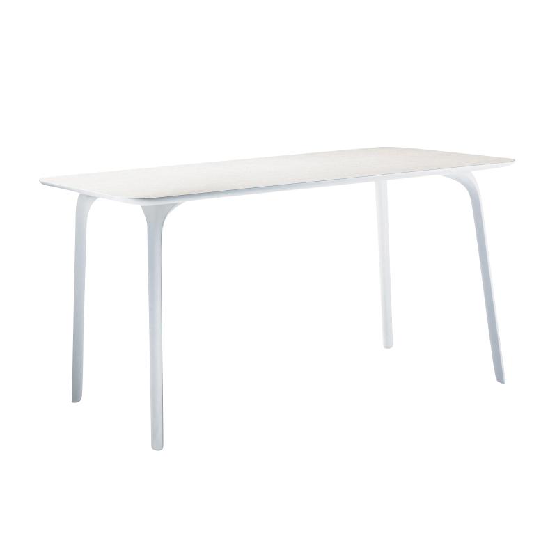 Magis - Table First Outdoor Tisch rechteckig - weiß/HPL/LxBxH 139x79.2x73.2cm/weiße Tischbeine | Wohnzimmer > Tische > Weitere Tische | Weiß | Polypropylen| hpl | Magis
