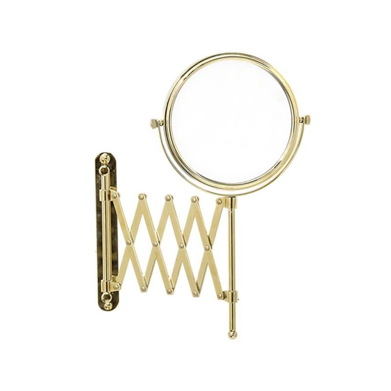 Bloomingville - Glamour Wandkosmetikspiegel - gold/Ø15xL50xH31|5 cm | Bad > Bad-Accessoires > Kosmetikspiegel | Gold | Metall| glas | Bloomingville