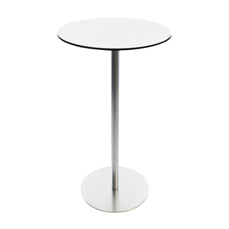 Lapalma - Brio Fix 110 Tisch - weiß/matt verchromt/H 110cm / Ø 60cm/Tischplatte HPL | Kinderzimmer > Spielzeuge > Holzspielzeuge | Lapalma