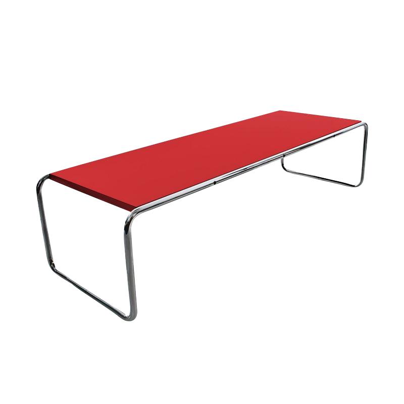 Knoll International - Laccio Couchtisch rechteckig - rot/Laminat/136x48x34cm | Baumarkt > Bodenbeläge > Laminat | Knoll International