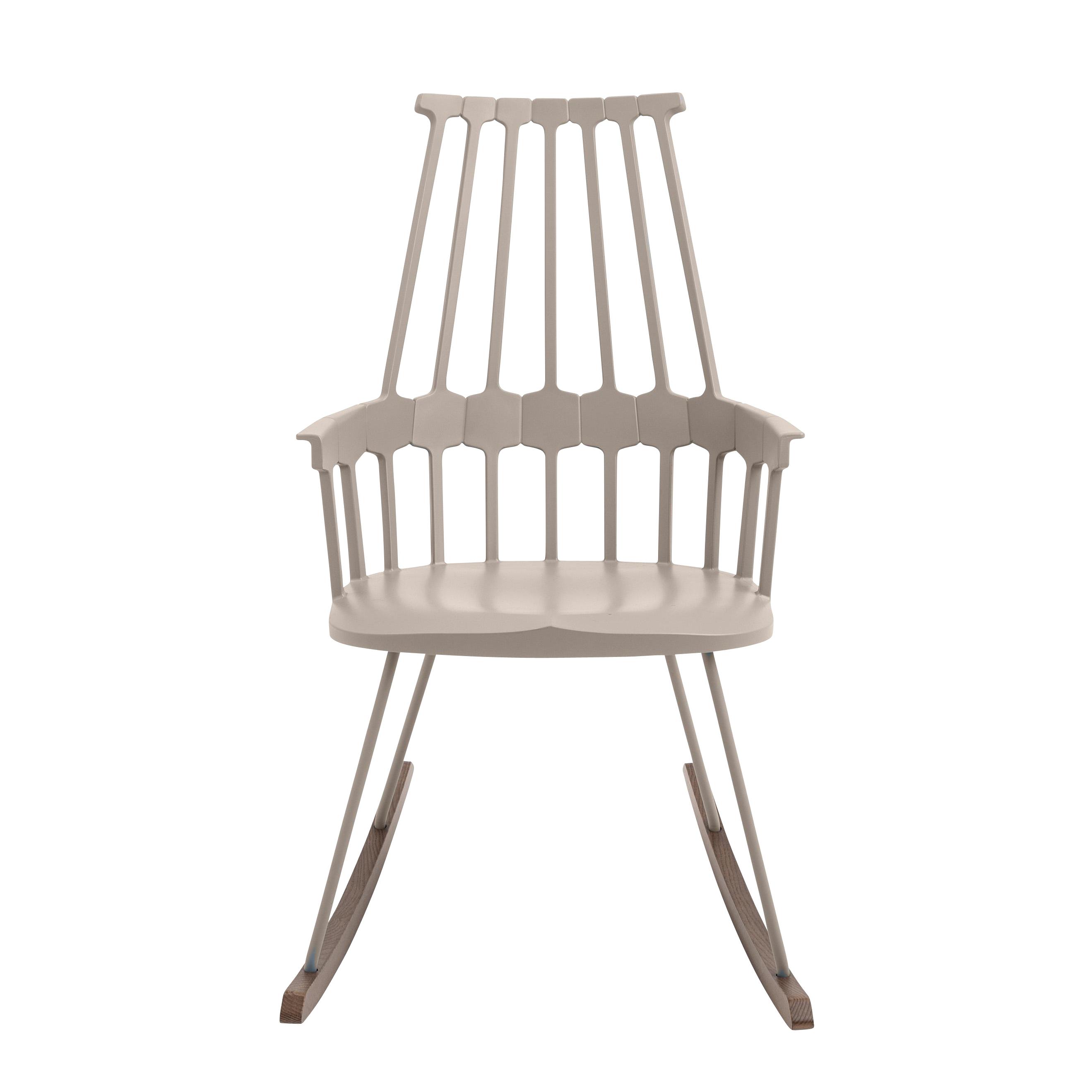 Kartell - Comback Chair Schaukelstuhl - haselnuss/Kufen esche gebeizt | Wohnzimmer > Stüle | Haselnuss|kufen esche gebeizt | Technopolymer| esche gebeizt | Kartell