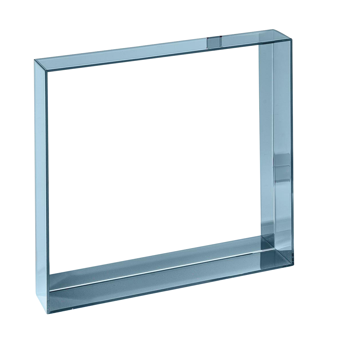 Kartell - Only Me Spiegel 50x50 - blau/transparent | Flur & Diele | Kartell