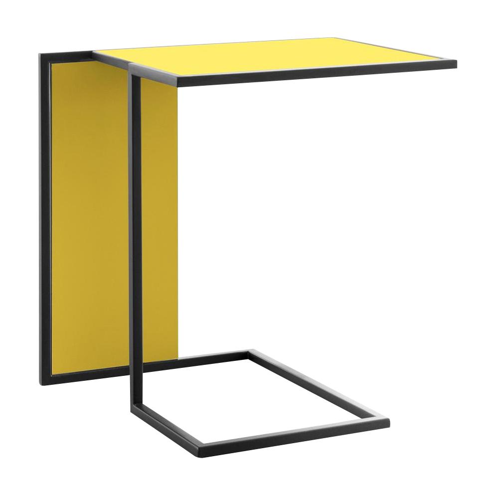 Conmoto - Riva Beistelltisch - gelb/Gestell schwarz/Laminat | Baumarkt > Bodenbeläge > Laminat | Conmoto