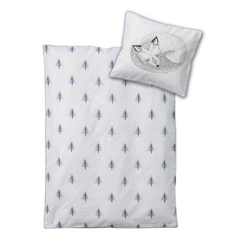 Bloomingville - Elliot Babybettwäsche - weiß/Größe DE/Kissen 40x35 Decke 80x80 | Kinderzimmer > Textilien für Kinder > Kinderbettwäsche | Weiß | 100% baumwolle | Bloomingville