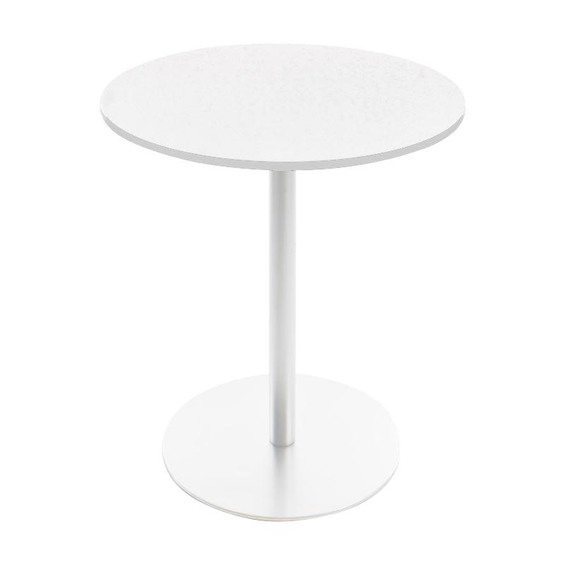 la palma - Brio Fix Bistrotisch Gestell weiß H 72cm - weiß/H 72cm / Ø 60cm/Tischplatte HPL   Kinderzimmer > Spielzeuge > Holzspielzeuge   Weiß   Edelstahl  hpl   la palma