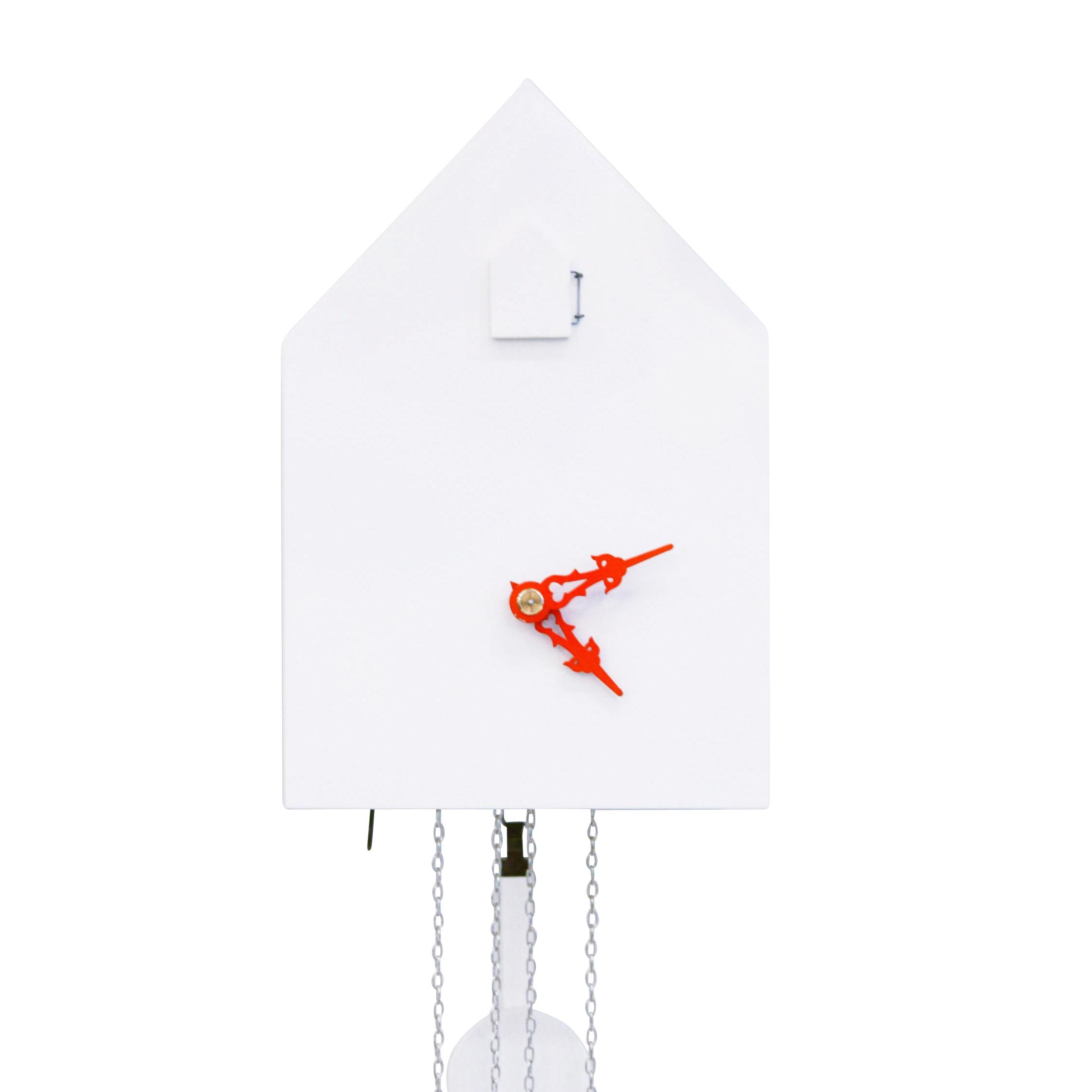 Artificial - Kuckucksuhr - weiß/Zeiger orange | Dekoration > Uhren > Kuckucksuhren | Weiß | Mdf| holz| metall | Artificial