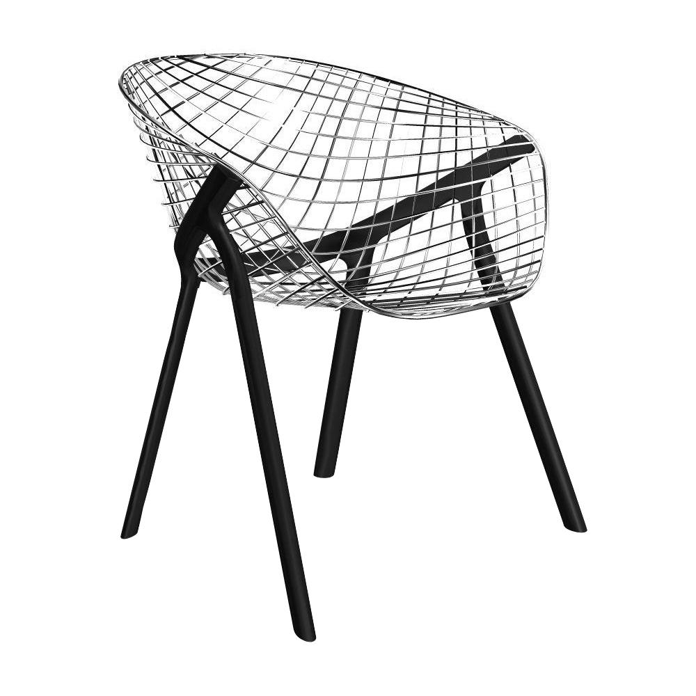 Alias - 040 Kobi Chair Armlehnstuhl - verchromt/lackiert/BxHxT 64|5x74|5x56cm | Küche und Esszimmer > Stühle und Hocker > Armlehnstühle | Verchromt | Stahl | Alias