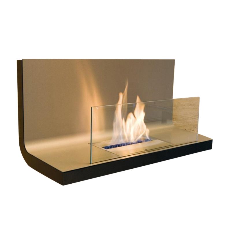 Radius - Wall Flame 1 Kaminfeuer / Wandkamin - transparent| edelstahl/Edelstahl/1|7 l Brennkammer | Wohnzimmer > Kamine & Öfen > Wandkamine | Transparent|edelstahl | Edelstahl| stahl| glas | Radius