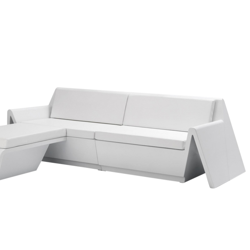 Vondom - Rest - Sofa deux places - blanc/mat/incl. coussinerie