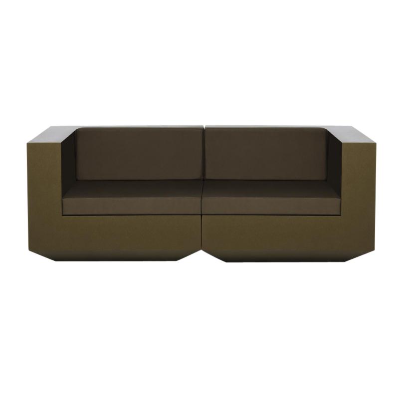 Vondom - Vela - Sofa 2-Seater - bronze/mat